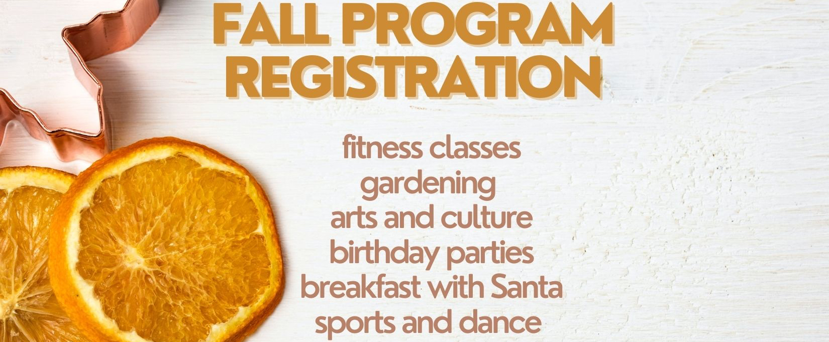 Fall Registration at West Point Grey Community Centre